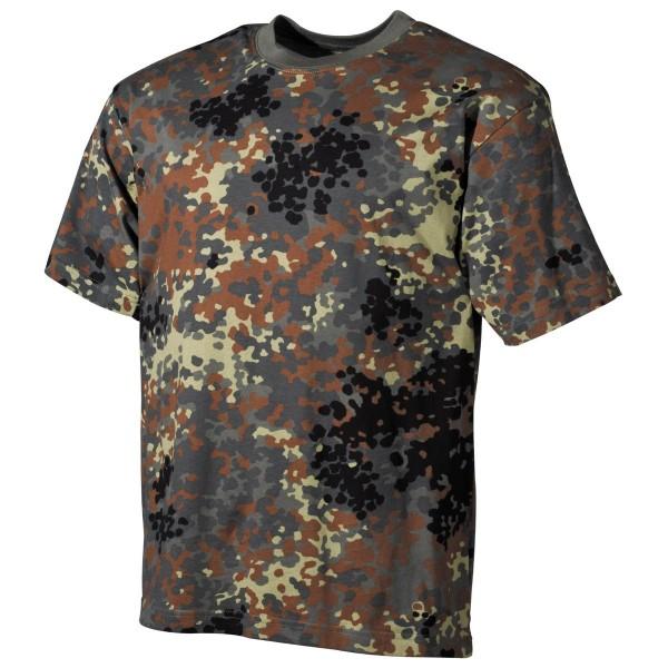 US T-Shirt, halbarm, flecktarn, 170 g/m² L