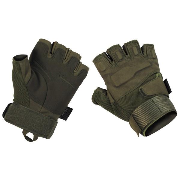 """Tactical Handschuhe,""""Pro"""", ohne Finger, oliv Gr.L"""