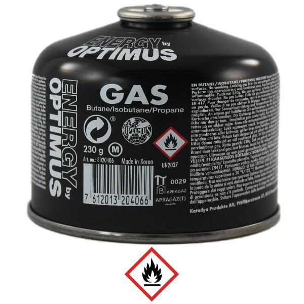 Gaskartusche, Optimus, Butan/Isobutan/Propan, 230g