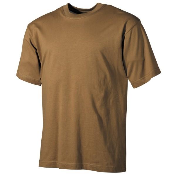 US T-Shirt, halbarm, coyote tan, 170 g/m² S