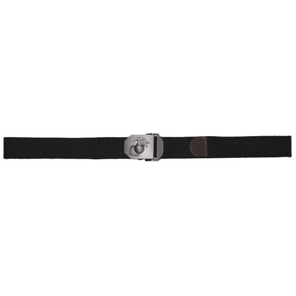 USMC Hosengürtel, schwarz, ca. 4 cm, Metallkastenschloss