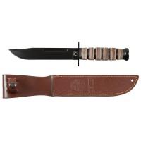 USMC Kampfmesser, Ledergriff, Scheide