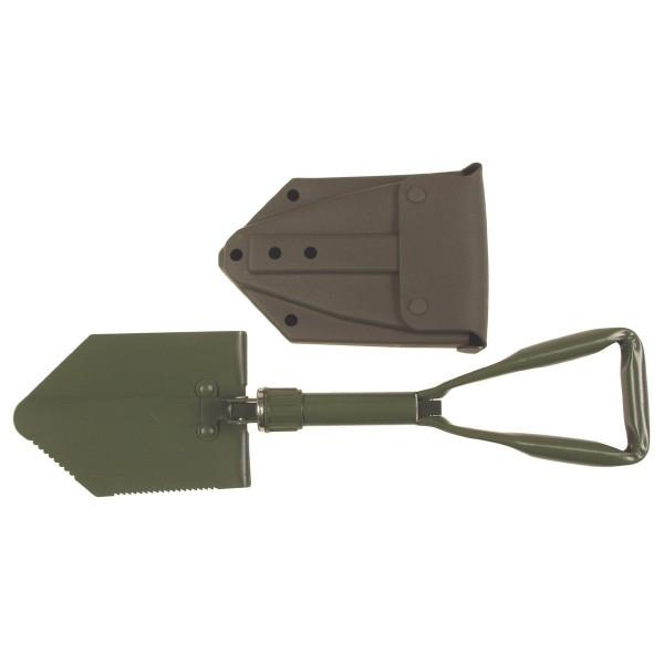 Klappspaten, neues BW Modell, 3-tlg., mit Tasche Oliv