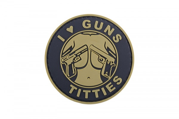 Guns&Titties Patch Tan