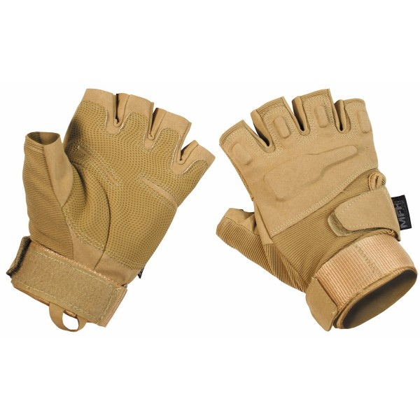 "Tactical Handschuhe,""Pro"", ohne Finger, coyote tan Gr.M"