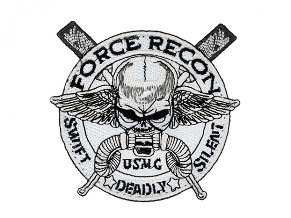 USMC FORCE RECON EMBROIDERED PATCH
