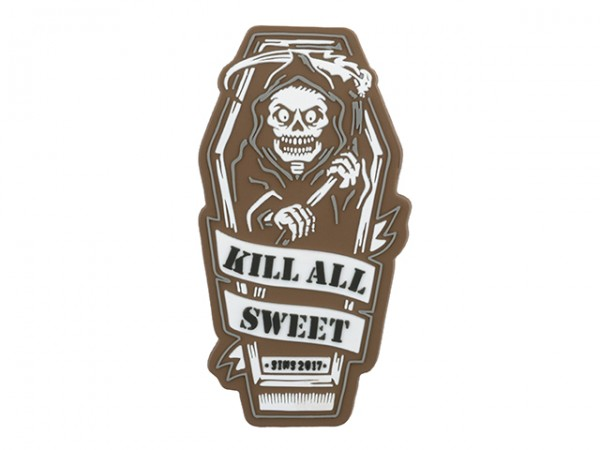 KILL ALL SWEET PVC PATCH TAN
